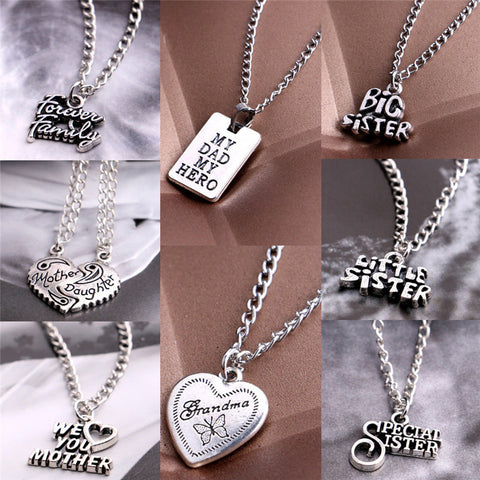 Sister Mother Daughter Dad Grandma Families Pendant Necklace Jewelry Mother's Day Gift