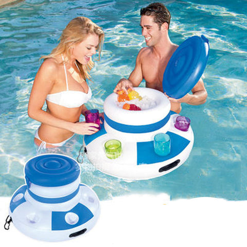 Inflatable Water Ice bucket Pool Float Swimming Float