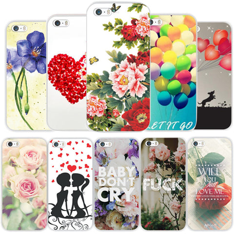 Transparent Edge Hard Phone Cases For Apple iPhone 5 5s SE