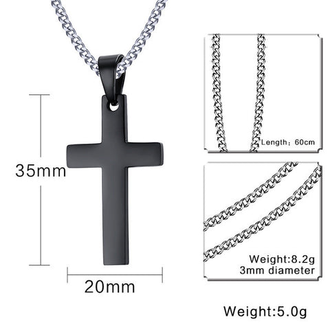 Cross Necklace & Pendant For Men Stainless Steel  Jewelry