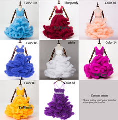 Cloud Flower girl Wedding Dress 130 colors Size 2T-14T. FREE worldwide Shipping