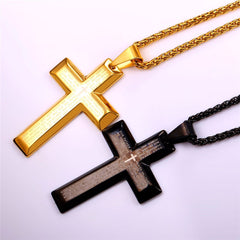 Cross Pendant and Necklace. FREE USA shipping