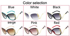 Luxury Oversized Metal Frame Women High Quality Sunglasses.
