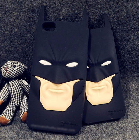 3D Batman Silicone Rubber Back Phone Case.