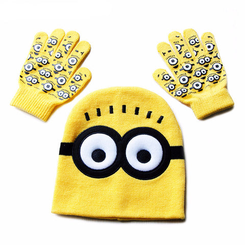 Minions Kids Hat and Gloves