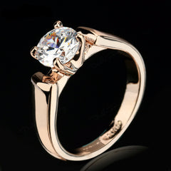 Round Cut Cubic Zircon Engagement Ring