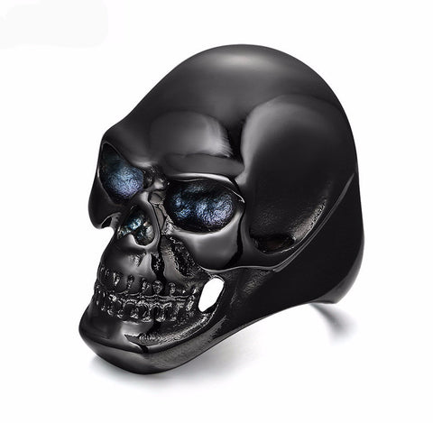 Gothic Men's Biker Stainless Steel Skull Ring