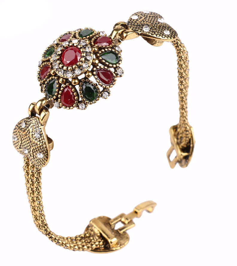 Crystal Flower Fashion Bracelet For Women