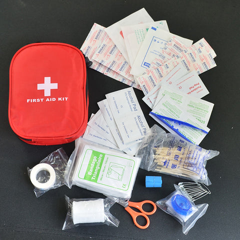 120 pcs First Aid Safe Camping Hiking Car First Aid Kit Medical Emergency Survival Kit