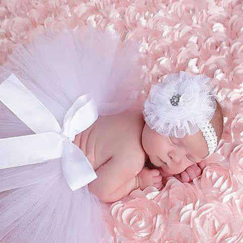 Newborn Photography Props Outfit  Baby Girl Tutu Skirt and Headband (0-12 months). SHIP to USA only