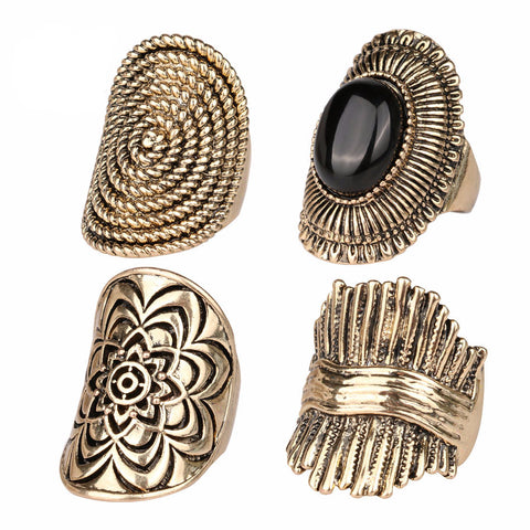 Vintage  4PCS Stes Rings For Women