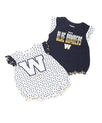 INFANT POLKA FAN CREEPER SET