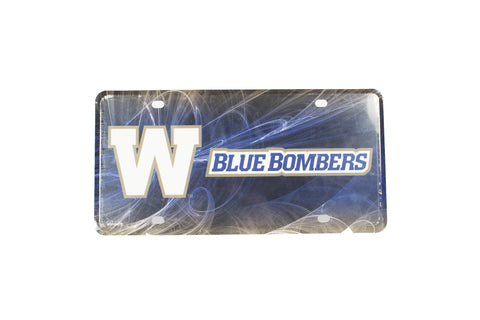 BLUE BOMBERS FAN AUTO TAG