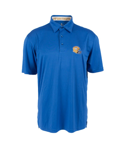 Helmet Logo Striped Back Polo
