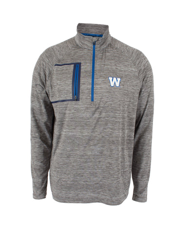 Mens Vault Grey 1/4 Zip