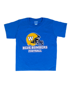 Helmet Blue Bombers Royal Tee