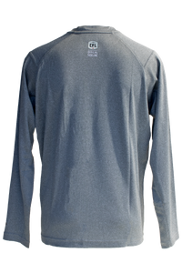 New Era Sideline Performance Long Sleeve in Heather Grey
