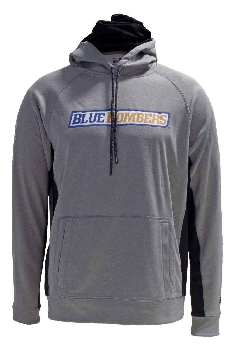 Blue Bombers New Era Sideline Performance Hoodie in Grey
