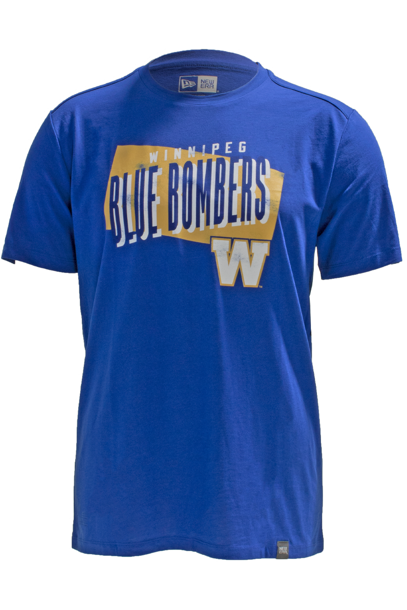 Blue Bombers New Era Royal Sideline Faded Gold Tee