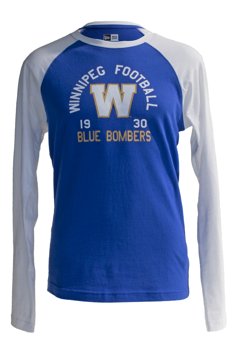 Blue Bombers New Era Arched Raglan Long Sleeve Top
