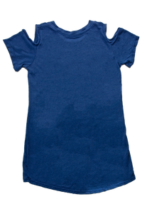Blue Bombers New Era Girls Cutout Sleeve Tee