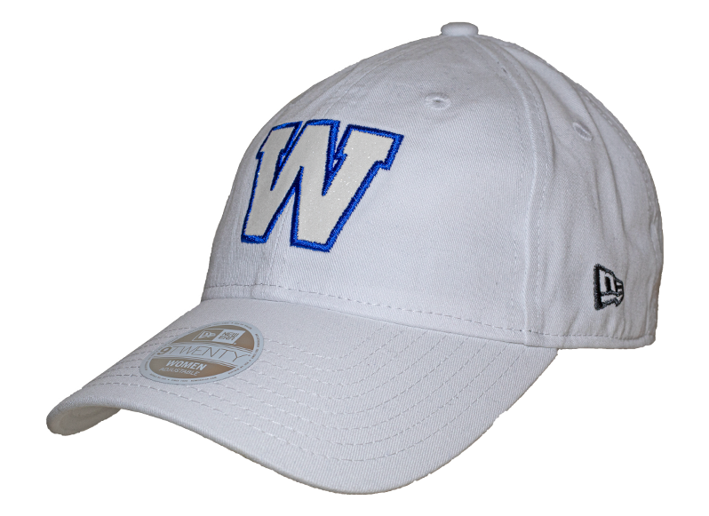 Blue Bombers New Era 9Twenty White Team Glisten Cap