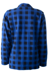 Blue Bombers Bulletin Ladies Plaid Fleece Jacket