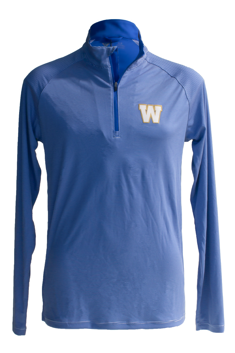 Blue Bombers Levelwear Orion Royal/White 1/4 Zip
