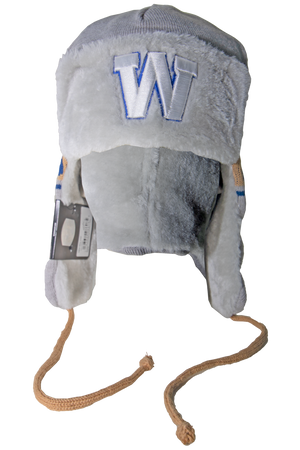 Blue Bombers New Era Grey Knit Trapper