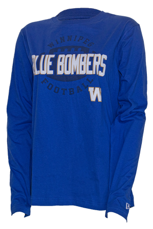 Blue Bombers New Era Caps Updated Block Jersey Long Sleeve