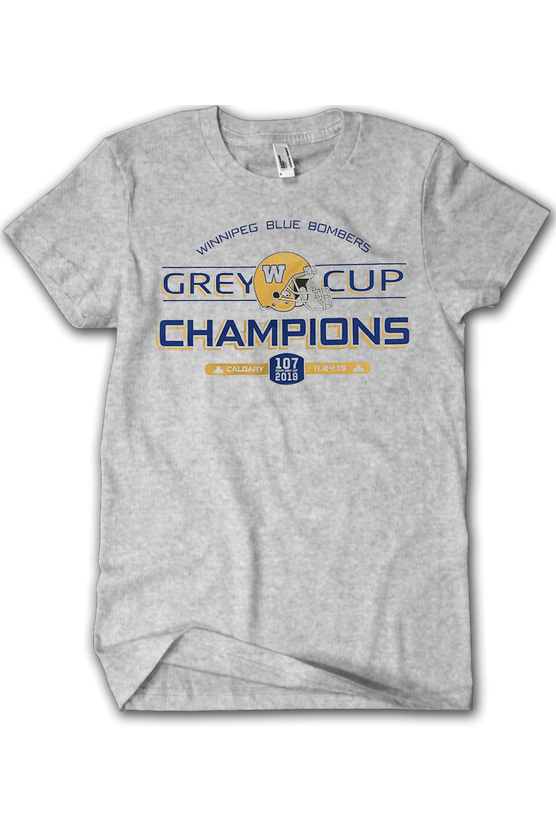 Blue Bombers Grey Cup Champions Tee