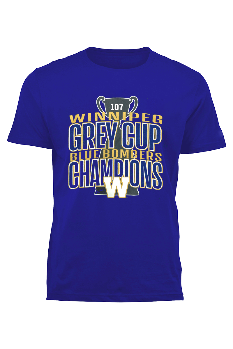 107th Grey Cup Champions Winnipeg Blue Bombers Tee