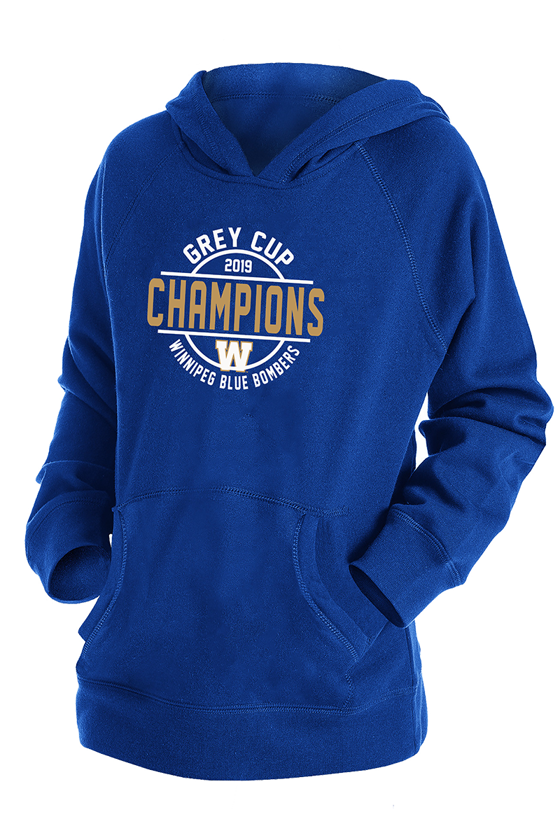 107th Grey Cup Blue Bombers Champions YOUTH Hoodie