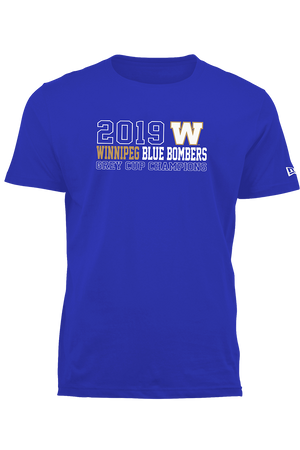 107th Grey Cup Blue Bombers Champions 2019 W Tee