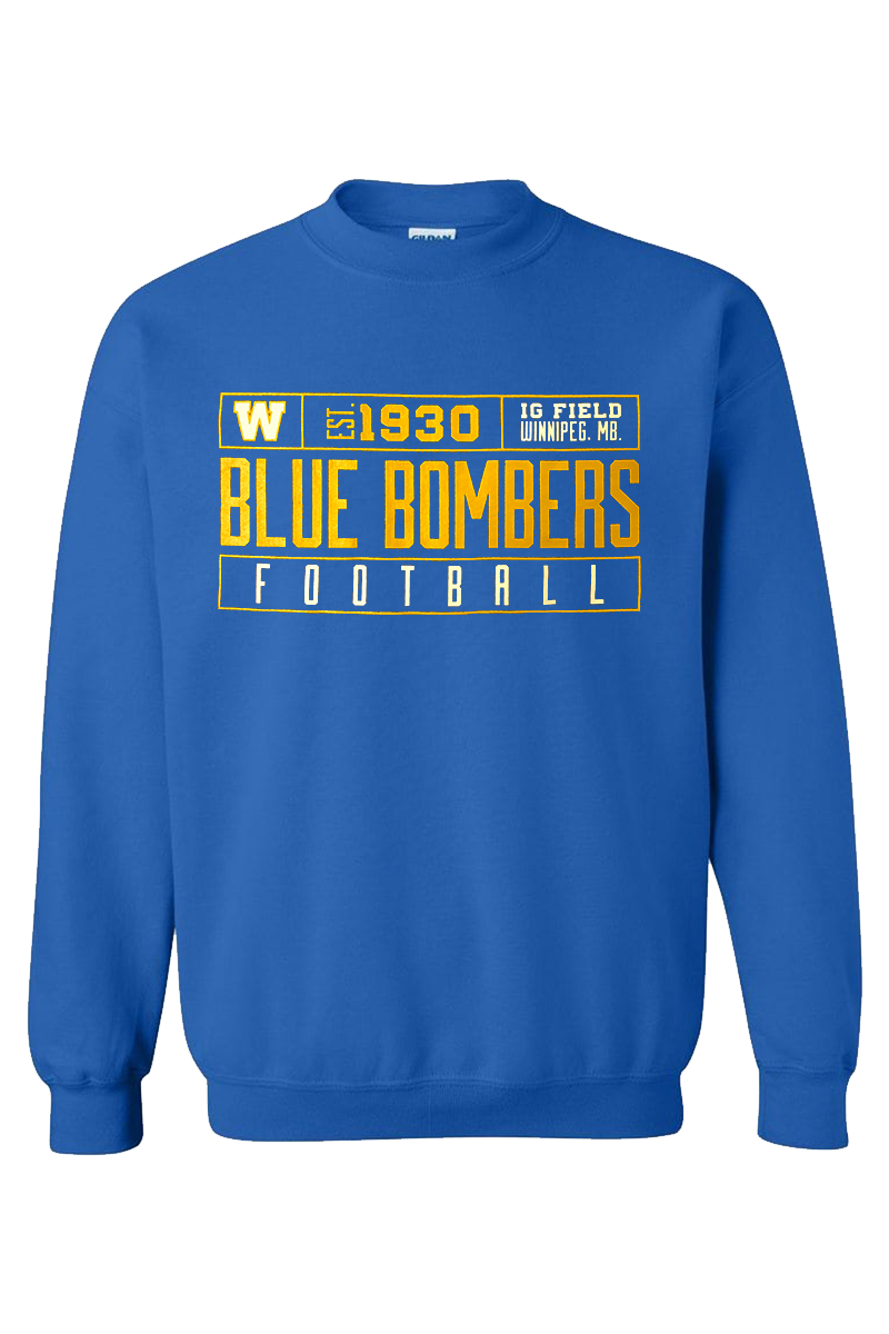 Blue Bombers Football Royal Crewneck