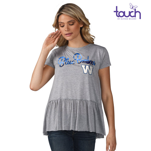 Ladies Mascot Peplum Tee
