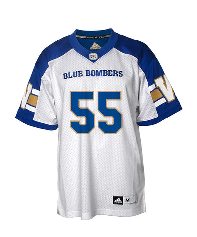 Authentic Blue Bombers Away Jersey - #55 Jamaal Westerman