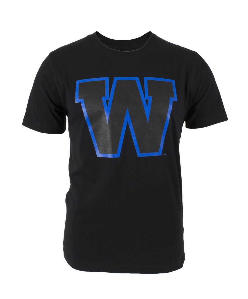 Black/Royal W Tee
