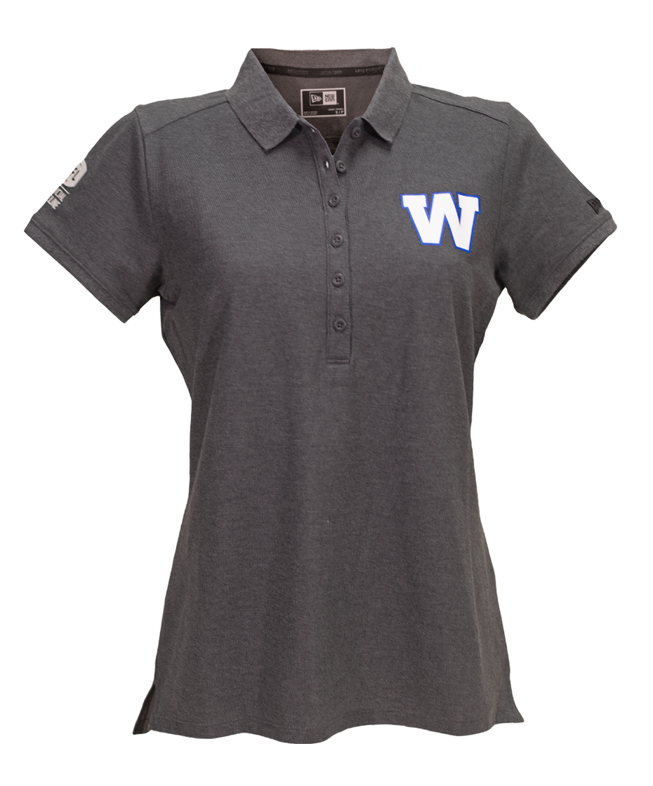 New Era Women's Sideline Grey Polo