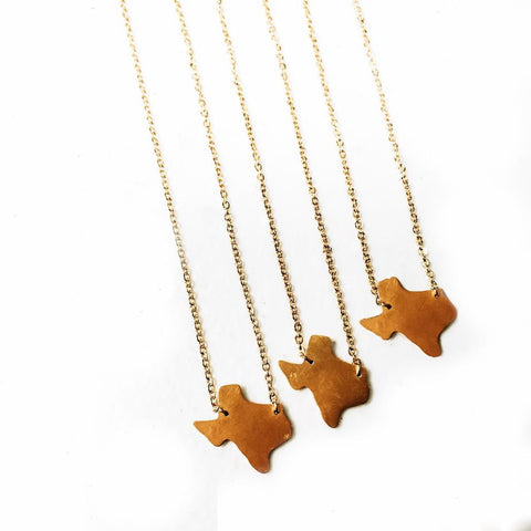 "Gold ""Texas"" Necklace"