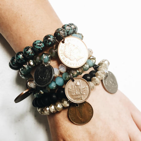Vintage Coin Bracelets--Made in Dallas, TX