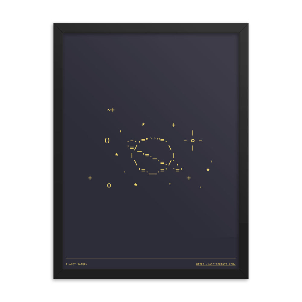 Planet Saturn 18in x 24in Framed Print