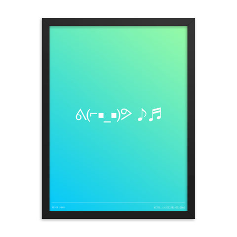 Disco Polo 18in x 24in Framed Print