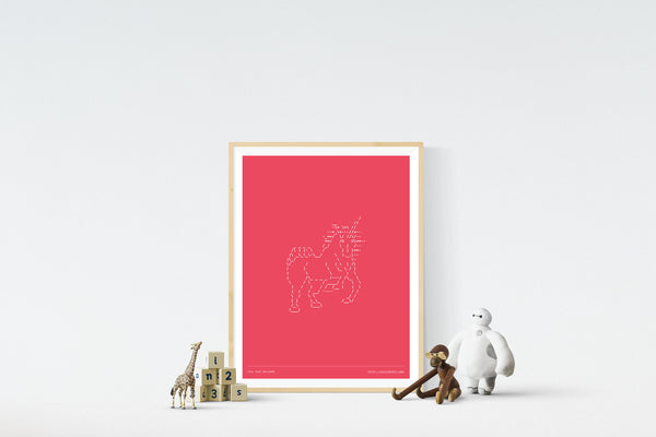 Fuck Yeah Unicorns 18in x 24in Framed Print