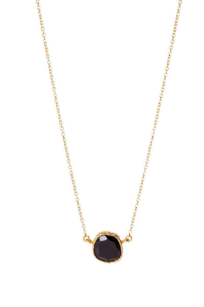 Necklaces, Christina Greene - Delicate Stone Necklace, CHRISTINA GREENE, $90.00, NARIE Clothing, accessories, Christine Greene, Christine Greene jewelry, dainty necklace, delicate necklace, gold, gold plated, layering necklaces, Narie clothing, necklace, necklaces, stone necklace, turquoise, $90.00, ,