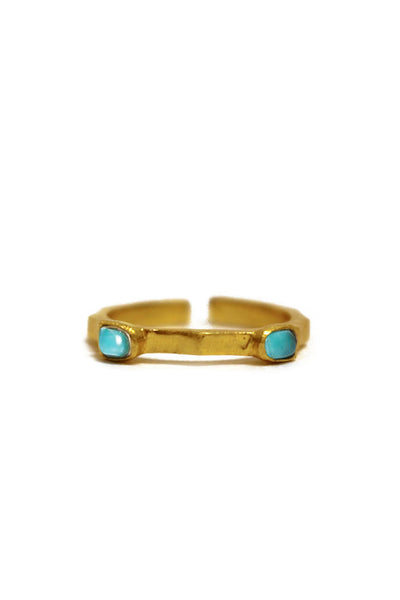 Christina Greene - Dainty 2 Stone Ring - NARIE Clothing