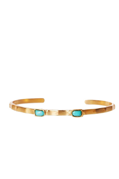 Christina Greene - Dainty 2 Stone Bangle - NARIE Clothing