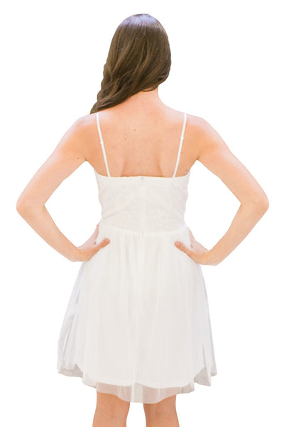 Fit & Flare Strapless Tulle Dress - NARIE Clothing