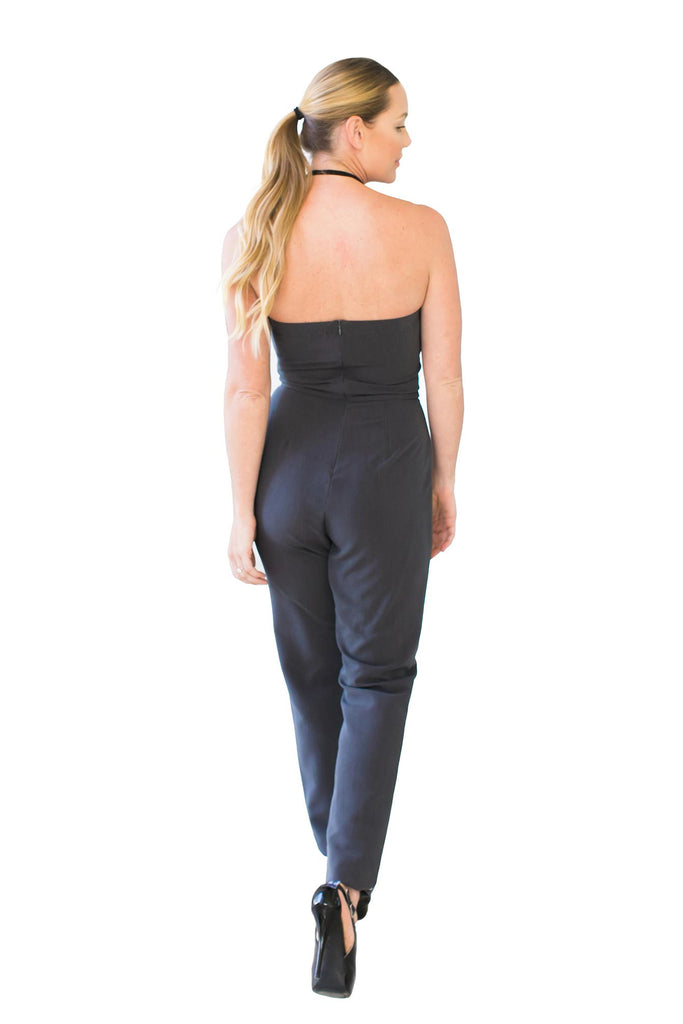 Jumpsuits, Strapless Jumpsuit, MYSTIC, $99.00, NARIE Clothing, gray, jumpsuit, jumpsuits, Mystic, Mystic clothing, Narie clothing, romper, Strapless jumpsuit, sweetheart, trouser cut, $99.00, ,