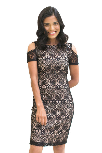 Cold Shoulder Lace Dress - NARIE Clothing